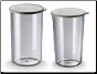 Bamix Combo Beaker Set (400 ml and 600 ml) with lids