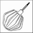 Beating Whisk for Bosch Compact, MUM4