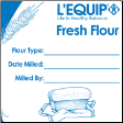 L'Equip Fresh Flour Bags.  Set of 10 durable freezer safe bags